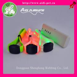 Radio/voice controlled LED flashing custom soft pvc wristband