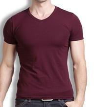 export usa 50% polyester 25% cotton 25% rayon 4.7oz v neck t-shirt