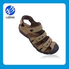 Hot sale men leather sole closed toe men's sandals