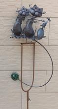 garden stakes wholesale, garden stakes, cat and mouse metal garden stakes(XY12494)