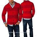hombre raya suéter cardigan