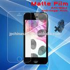 Anti finger print mobile phone Matte screen protector film for iphone 5