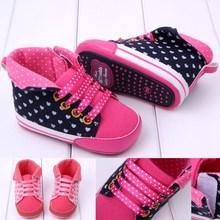 rojo niño zapatos de bebé con cordones de los zapatos