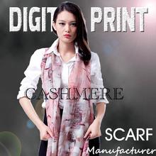 digital lady's digital print jersey shawl