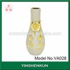Produce unique allover liquid gold electroplate vase ceramic