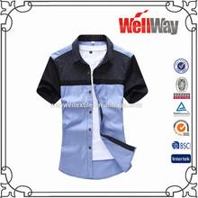 100% Cotton Formal Men Short Sleeve Shirt