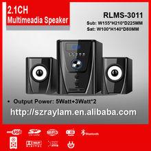 RLMS-3011 USB SD FM Bluetooth Remote Control 2.1 Subwoofer Speaker