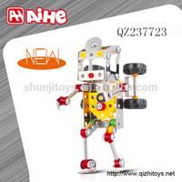 2015 Metal toy mini robot intelligent change robot car toy building blocks for kids toy