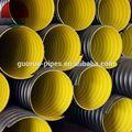 Polietileno de alta densidad de doble- tubo corrugado de pared para el drenaje