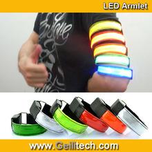 2014 New reflect light Bracelet Beautiful Night LED Bracelet, armlet Flash Concert Bracelet for Sport and Party