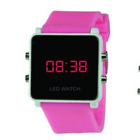 colorful silicone led watch