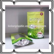 250g green tea bag,coffee tea bag,empty tea bag with zipper