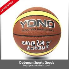 customize oem pu guangzhou sports free basketball for selling YONO laminated basketball balls