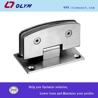 high quality OEM stainless steel glass door clamp casting spare parts casting as per drawing