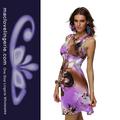2014 encanto roxo cor africano de alta moda feminina vestido havaiano