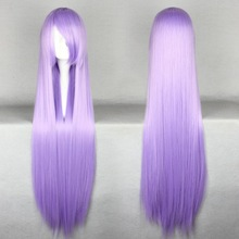 2014 Long Straight Synthetic Wigs Light Purple Gin Tama-Sarutobi Ayame 100Cm Cosplay Wig & Party Wigs