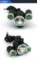 Cinco modos de 1500lm 3*cree xm-l t6 negro de ciclismo bicicletas de impermeabilización led luces de la bicicleta para bicicleta de montaña