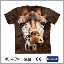 high quality china trendy animal men 3d tshirt printing