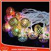 Lighted handmade ceramic christmas ball ornament