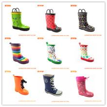 2014 Kids waterproof cheap fashion design colorful rubber rain boots RCK1