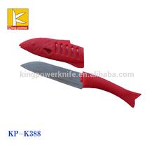 Fruit knife set with knife protection sheath like a fish