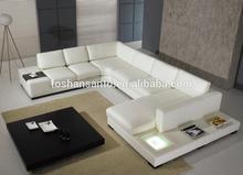 modern leather corner sofa with light model T35