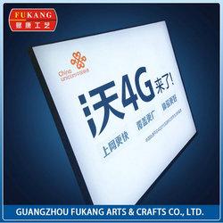 Wall Mount 9CM UV Spray Poster LED Fabric Light Box For Advertisement