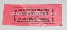 2015 Hot Sale Tamper Evident VOID Security Seal Label Sticker