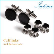 High Guality metal buttons Cuflinks and studs Sets Best Man Silver buttons Cufflinks Wholesale