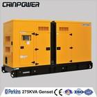 275kva 50hz PERKINS soundproof turbine engine diesel generator with stamford alternator