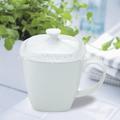 beyaz gövde ince kemik çini kahve bardak