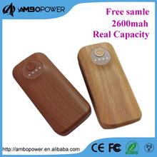 5600mah wholesale wood power bank charger