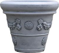 balcony big outdoor ornamental cheap plastic flower pots wholesale