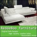 Mais recente barato canto vermelho sofá com chaise lounge