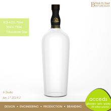 Handcrafted Ti-Borosilicate Glass Custom Wine / Whisky Bottles
