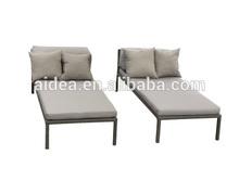 beach furniture poly rattan sun tanning bed