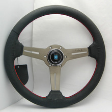 high quality leather deep dish steering wheel