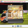 de fibra de vidrio 2014 calle móvil cocina carro de servicio de alimentos clw1010 camiones