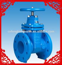 DIN ductile iron flanged non rising stem hand wheel gate valve
