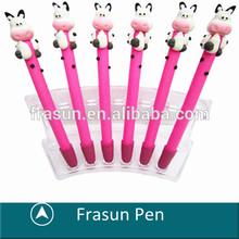 Nice Milk Cow Clay Pen/Cartoon Pink Amimal Pen/Custom logo Barrel Ball Pen