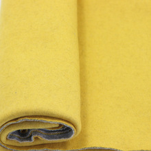 yellow grey knit double face wool fabric for lady coats