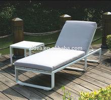 modern patio furniture waterproof folding sun bed