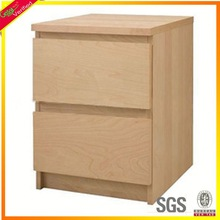 Customized pine filing cabinet 2 drawer,file storage cabinet