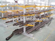 Q235 ISO9001,Warehouse Metal cantilever storage shelf,steel pipe storage rack