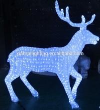 Led White Glue Crystal Deer for Holliday led decoration light