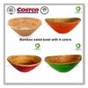COSTCO colorful oval bamboo salad bowl