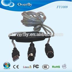 FY1009 Midi interface,USB Midi Cable ,Midi linking cable