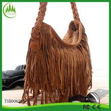 2014 Hot Sale Bags China Manufacturer Wholesale Elegant Suede Fringe Bags