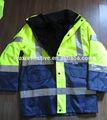 Reflexivo chaqueta de bombardero chaqueta cparka/chaqueta de seguridad, impermeable ropa de seguridad