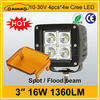 "High quality cree led 3"" 1360LM 16w led worklight atv"
